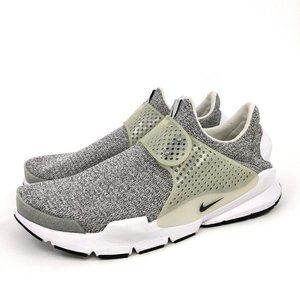 NIKE Women's Sock Dart SE Heather Grey/Wht Sz 11